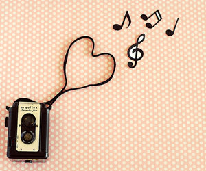 heart, love music, and notes image