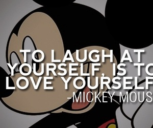 mickey mouse, quote, and love image