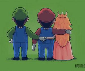 mario, luigi, and princess image