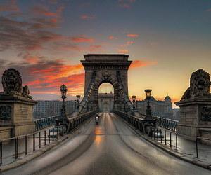bridge, hungary, and travel image