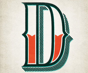 d, Letter, and typography image