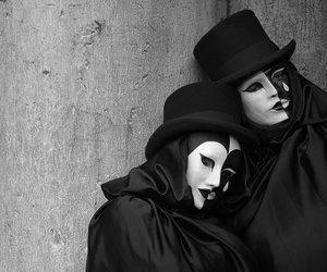 mask, sadness, and sad image