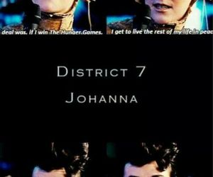 the hunger games, hunger games, and johanna mason image