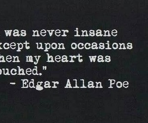 edgar allan poe, goth, and words image