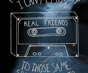 real friends, quotes, and band image
