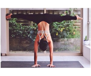 exercise, yoga, and fit image