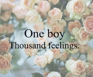 love, boy, and feelings image
