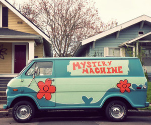 scooby doo, mystery machine, and car image
