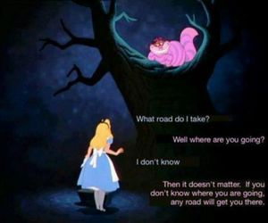 alice in wonderland, alice, and cat image