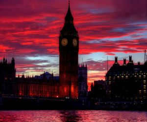 london, travel, and sky image