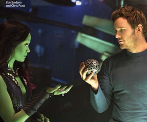 chris pratt, guardians of the galaxy, and gamora image