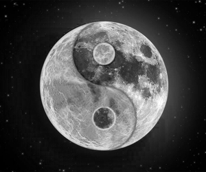 moon, sun, and yin yang image