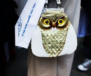 bag, owl, and original image