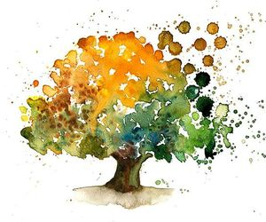 tree, art, and painting image