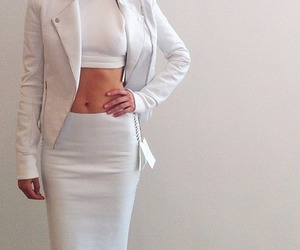 white, fashion, and outfit image