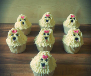 cupcakes, puppies, and cute image
