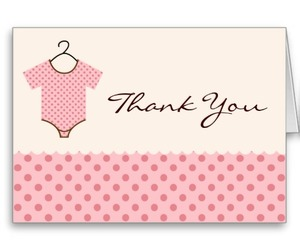pink baby thank you cards image