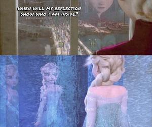 blue, fear, and elsa image