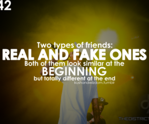 quote, fake, and friendship image