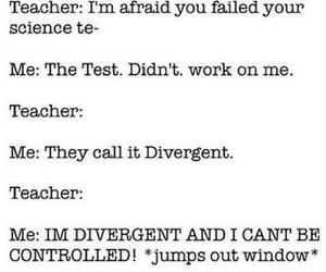 divergent, teacher, and test image