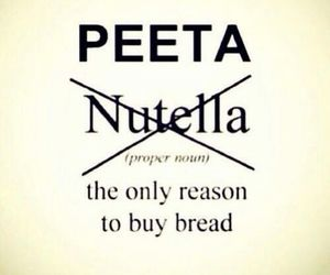 peeta, nutella, and bread image