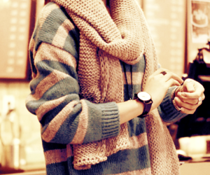 artsy, brown, and sweater image