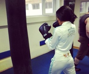 girl, sport, and boxing image