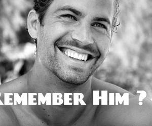 black and white, paul walker, and rip image