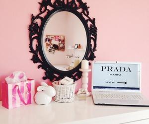 Prada, bedroom, and pink image