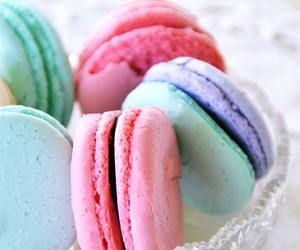 food, candy, and macarons image