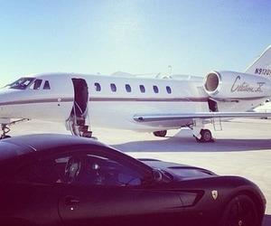 luxury, car, and plane image