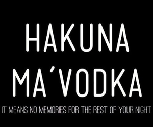 lion king, vodka, and hakuma matata image
