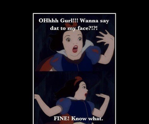 funny, snow white, and lol image
