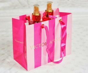 pink, Victoria's Secret, and v image