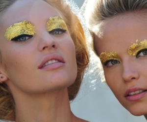 model, gold, and candice swanepoel image