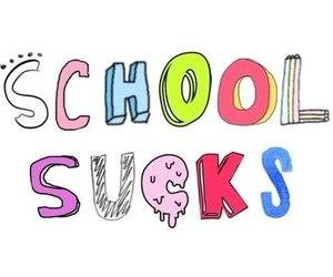 school and sucks image