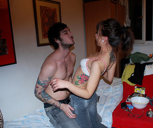couple and tattoo image