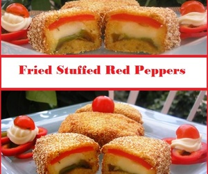 food, fried, and peppers image