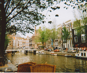 amsterdam, boat, and river image