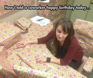birthday, wrapping paper, and desk image