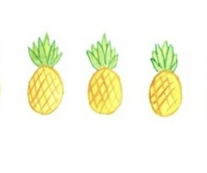 pineapple and overlay image
