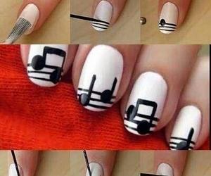 music, nail art, and notes image