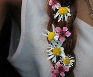 braid, spring, and white image