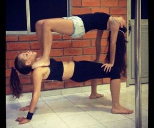 strong, yoga, and friends image