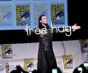 Avengers, comic con, and free hugs image