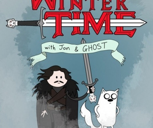 game of thrones, adventure time, and jon snow image
