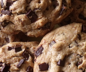 food, chocolate chip, and Cookies image