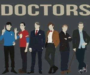 doctor, doctor who, and spock image