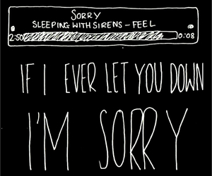 Lyrics, sleeping with sirens, and sorry image