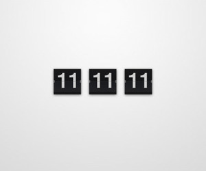 11, 11:11, and eleven image